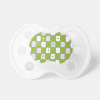 Retro Green Starbursts Pacifier