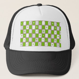 Retro Green Starbursts Trucker Hat