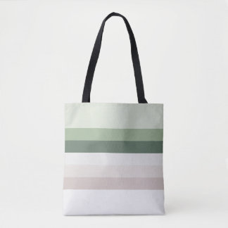 Retro Green Stripes Tote Bag