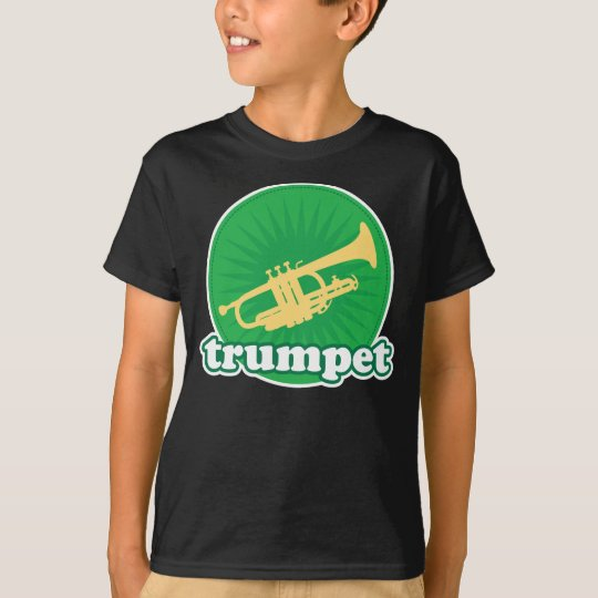 Retro Green Trumpet Music Gift T-Shirt