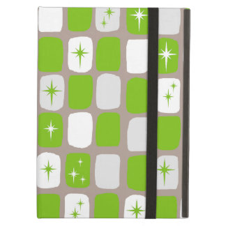 Retro Green & White Starbursts iPad Air Case