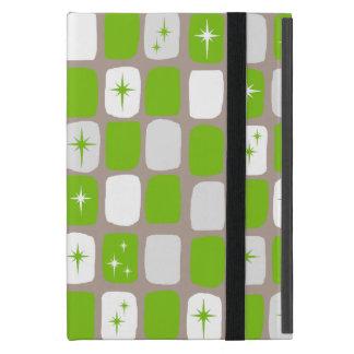 Retro Green & White Starbursts iPad Mini Case