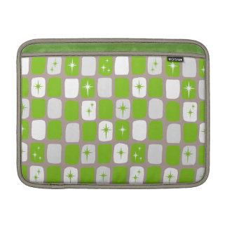 Retro Green & White Starbursts MacBook Air Sleeve
