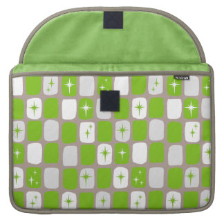 Retro Green & White Starbursts MacBook Pro Sleeve