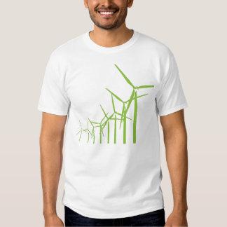 Retro Green Wind Turbine Tee
