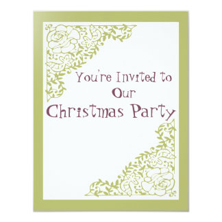 Retro Green Xmas Invite
