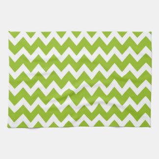 Retro GREEN Zig Zag Pattern Tea Towel