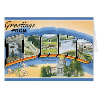 Retro Greetings From Idaho Card