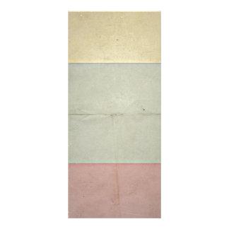 Retro Grey Beige Violet Design.Artistic Pattern Rack Card