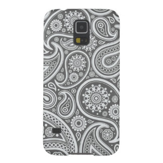 Retro Grey Paisley Pattern Galaxy S5 Cases