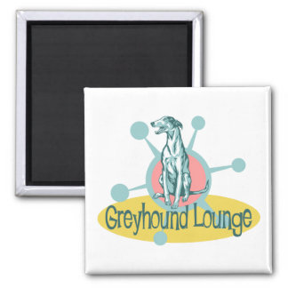 Retro Greyhound Lounge Magnet
