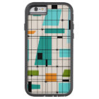 Retro Grid and Starbursts iPhone 6/6S Case