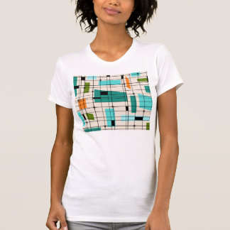 Retro Grid and Starbursts T-Shirt
