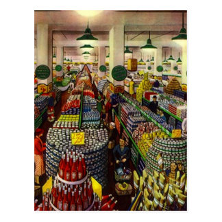 Retro Grocery Store Coupon Clipper's Gifts Gift Postcard