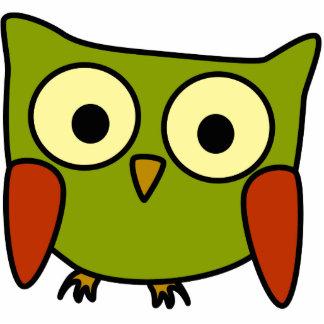 Retro Groovy Owl Christmas Ornament Photo Sculpture Decoration