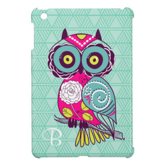 Retro Groovy Owl Teal Cover For The iPad Mini