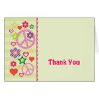 Retro Groovy Thank You Card