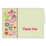 Retro Groovy Thank You Card