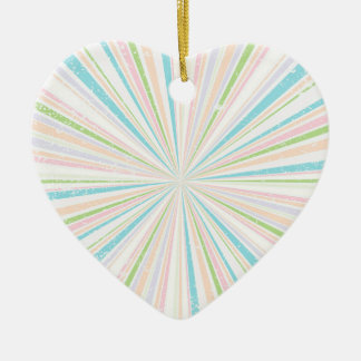 Retro Grunge Background Ceramic Heart Decoration