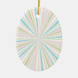 Retro Grunge Background Ceramic Oval Decoration
