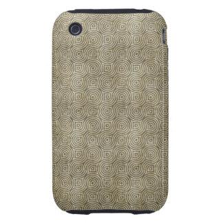 Retro Grunge Beige Pattern iPhone 3 Tough Cover