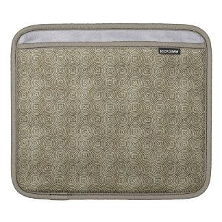 Retro Grunge Beige Pattern iPad Sleeves