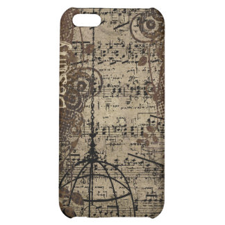 Retro Grunge Bird Cage iPhone Cover iPhone 5C Case