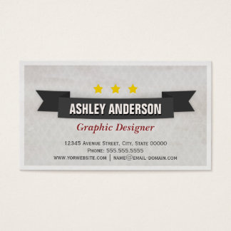Retro Grunge Black and White Business Card
