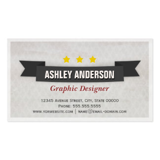 Retro Grunge Black and White Pack Of Standard Business Cards