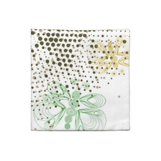 Retro grunge butterfly pattern with halftones napkin