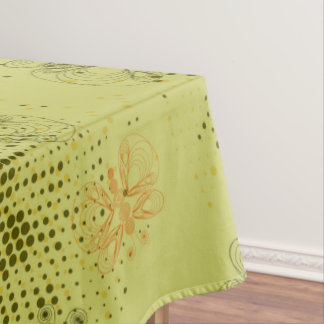 Retro grunge butterfly pattern with halftones tablecloth
