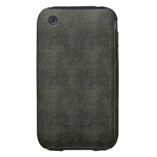 Retro Grunge Dark Green Tough iPhone 3 Case