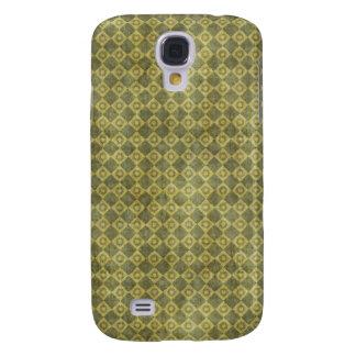 Retro Grunge Green Diamond Pattern Galaxy S4 Case