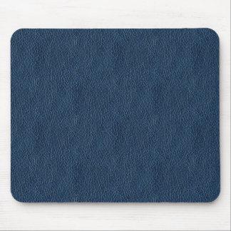 Retro Grunge Navy Blue Leather Custom Mouse Mat