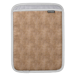 Retro Grunge Peach Pattern Sleeves For iPads