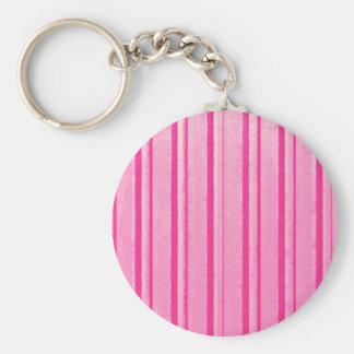 Retro Grunge Pink Stripe Key Chains