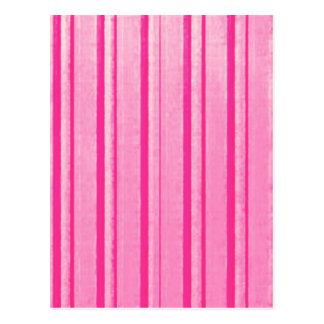 Retro Grunge Pink Stripe Postcard