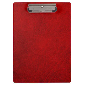 Retro Grunge Red Leather Custom Clipboard