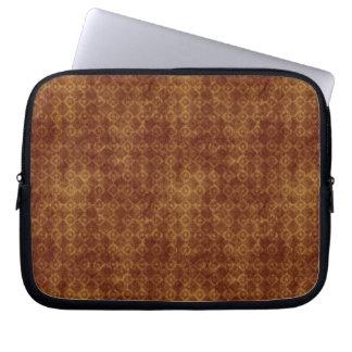 Retro Grunge Rust Diamond Pattern Laptop Sleeve