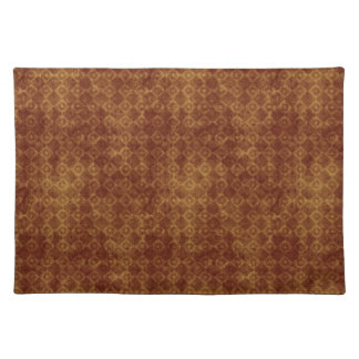 Retro Grunge Rust Diamond Pattern Placemat