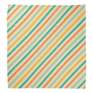 Retro grunge striped pattern bandana