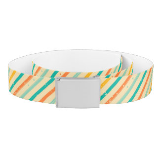Retro grunge striped pattern belt