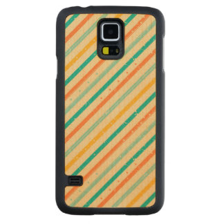 Retro grunge striped pattern carved maple galaxy s5 case