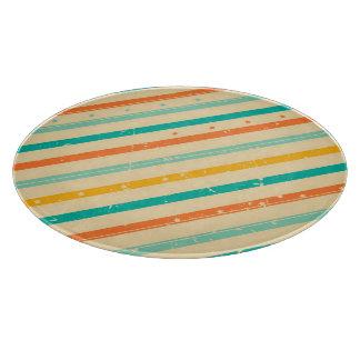 Retro grunge striped pattern cutting board