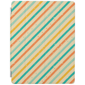Retro grunge striped pattern iPad cover