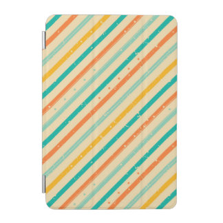 Retro grunge striped pattern iPad mini cover