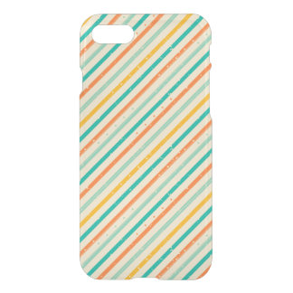 Retro grunge striped pattern iPhone 8/7 case