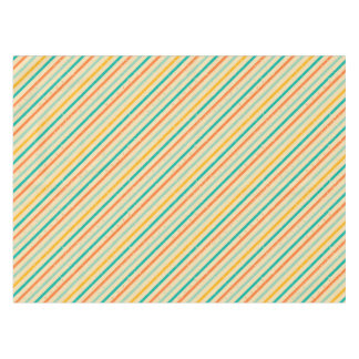 Retro grunge striped pattern tablecloth