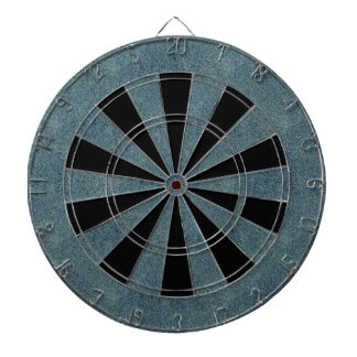 Retro Grunge Suede Custom Blue Texture Dartboards