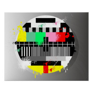 Retro grunge tv poster
